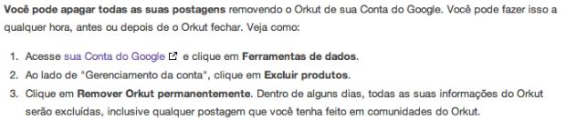 Fim dos comentarios em comunidades do Orkut